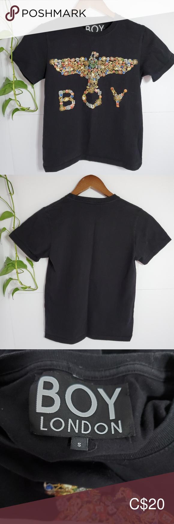 3 30 Boy London Embellished Tshirt Small Boy London Women Shopping Embellished Tshirt [ 1740 x 580 Pixel ]