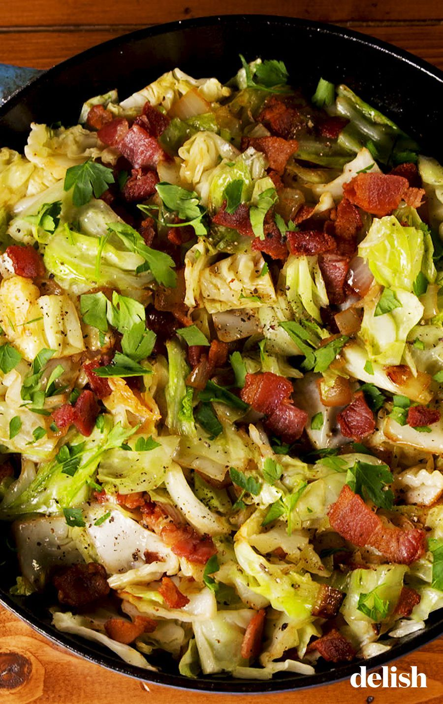Bacon Fried Cabbage Is The Easiest Low-Carb Side