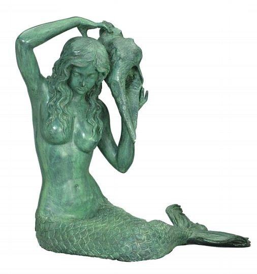 Mermaid Garden Statues | My Garden Gifts U003e Fountains U003e Fountain Statues U003e  Bronze Mermaid .