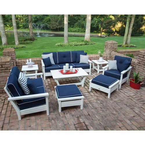 8 Piece Deep Seating Set By Ivy Terrace In White Navy