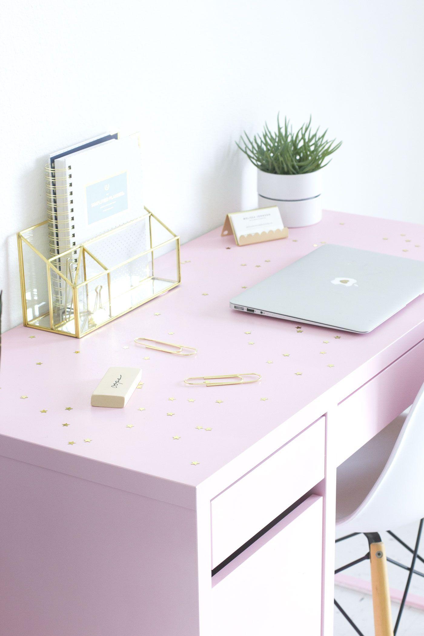DIY Pink IKEA Desk Makeover
