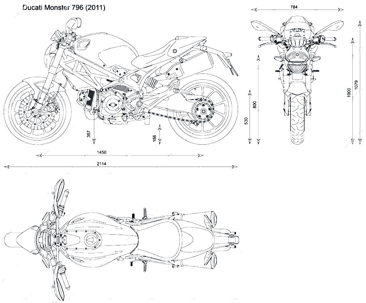 Ducati Monster Blueprint