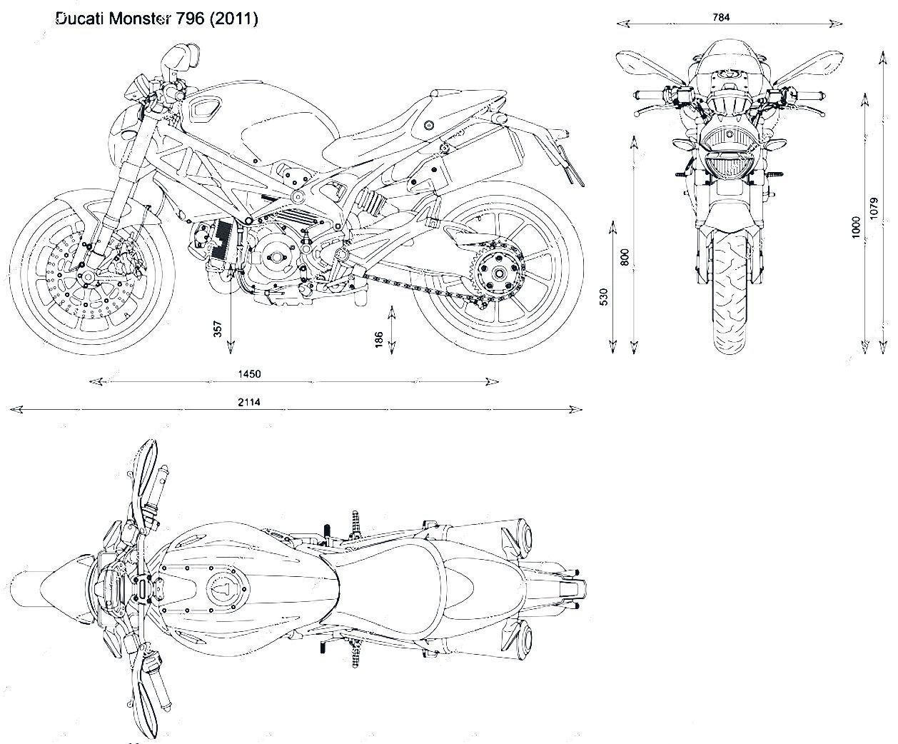 Ducati Monster Blueprint