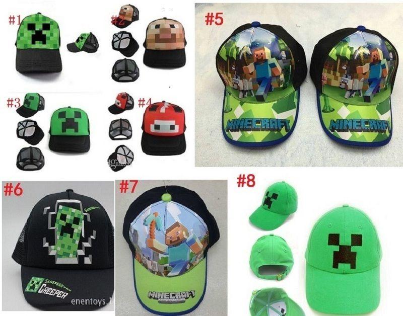 6c823e60c86 8 styles Minecraft ball cap Yupoo makeup  cosmetic  Minecraft ...