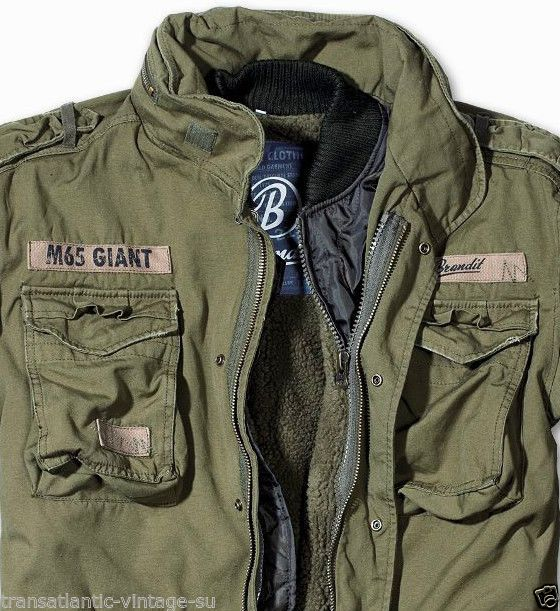 BRANDIT M65 GIANT MENS MILITARY PARKA US ARMY JACKET WINTER ZIP OUT LINER  OLIVE 5813b095ff818