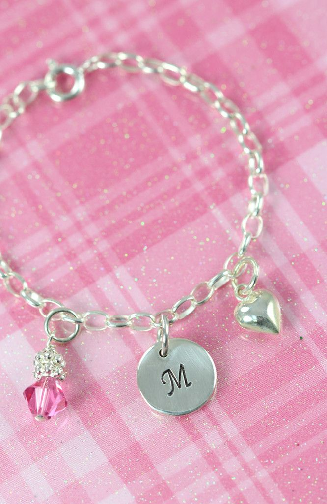 Flower Girl Bracelet Gift Idea, 925 Sterling Silver Engraved Jewelry #FlowerGirlJewelry