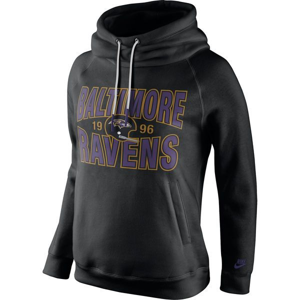 Baltimore Ravens Nike Women s Rewind Rally Funnel Hoodie - Black -  56.99 a5aef4caf