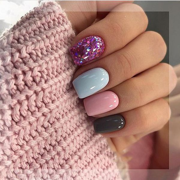 25 Perfect Winter Nail Designs To Make You Feel Warm With Images Short Nails Art Manicure Winter Nails