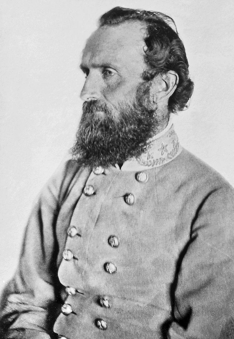 "General Jackson's ""Chancellorsville"" Portrait, taken at a Spotsylvania County farm on April 26, 1863, seven days before his mortal wounding at the Battle of Chancellorsville."