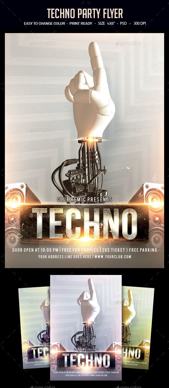 techno party flyer flyer partys und techno