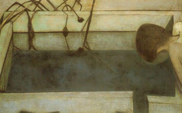 香月泰男  『水鏡』 昭和17年作 東京国立近代美術館所蔵
