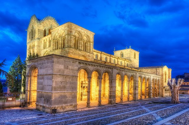 The St Vincent S Basilica At ávila Spain Stands On The Traditional Site Of The Martyrdom Of St Vi Hdr Architecture Spanish Architecture Architecture Images