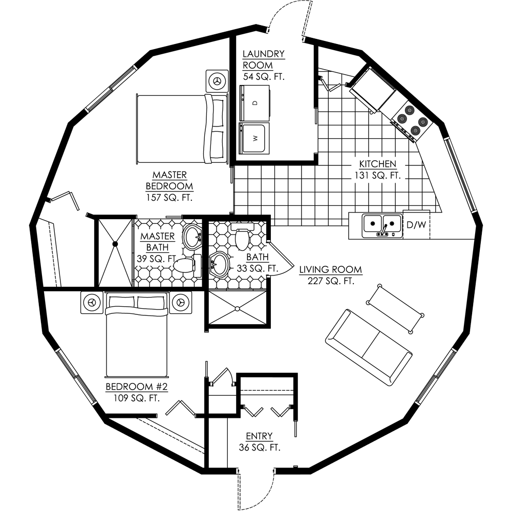 Monolithic Dome Home Plans: Deltec Homes- Floorplan Gallery
