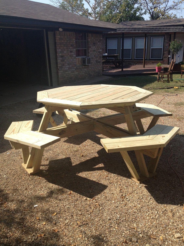Custom Built Picnic Table 500 00 Via Etsy