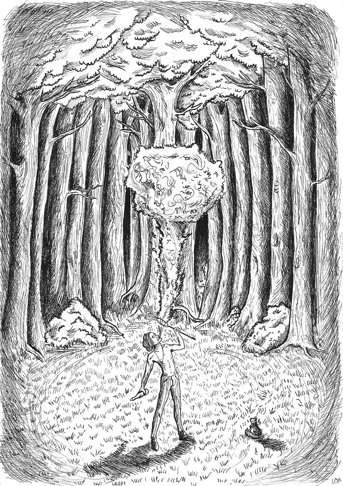 """Proposition Illustration From The Book """"Inkheart"""" Cornelia Funke"""