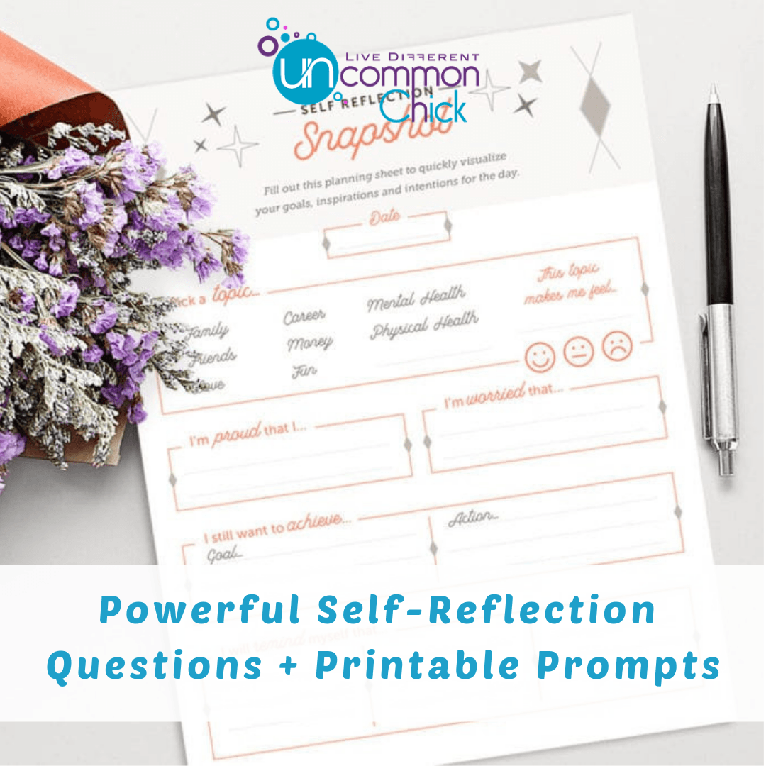 Powerful Self Reflection Questions Printable Prompts