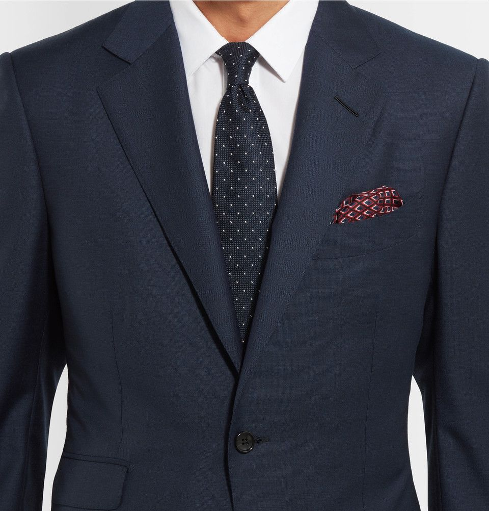 TOM FORD - Blue O Connor Slim-Fit Wool Suit Jacket   S19 Suits ... 6e56c7bc6102
