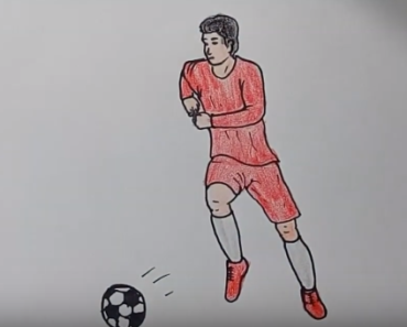 How To Draw A Football Player Easy Football Player Drawing Step