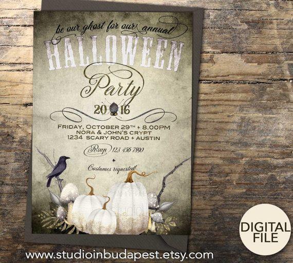 Printable Halloween Invitation Halloween party di StudioInBudapest