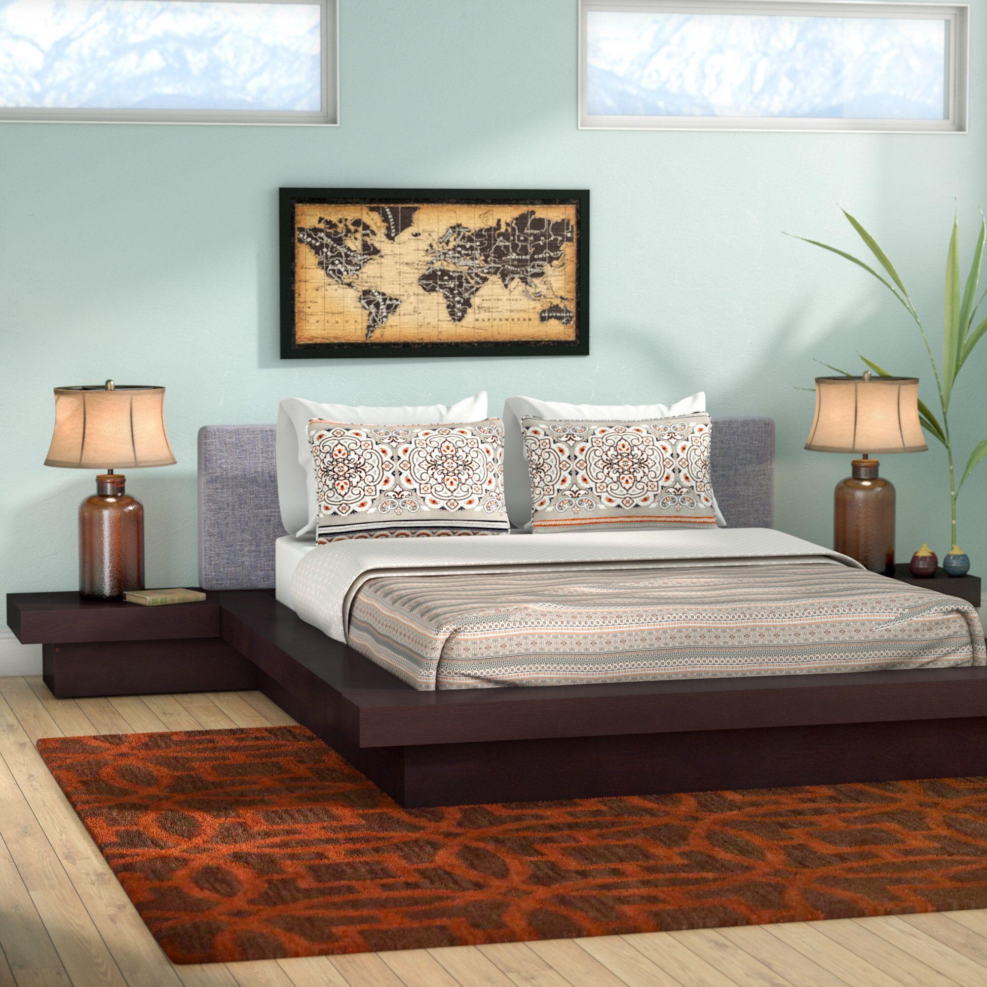 Best Rennan Queen Platform 3 Piece Bedroom Set Bedroom Sets 400 x 300