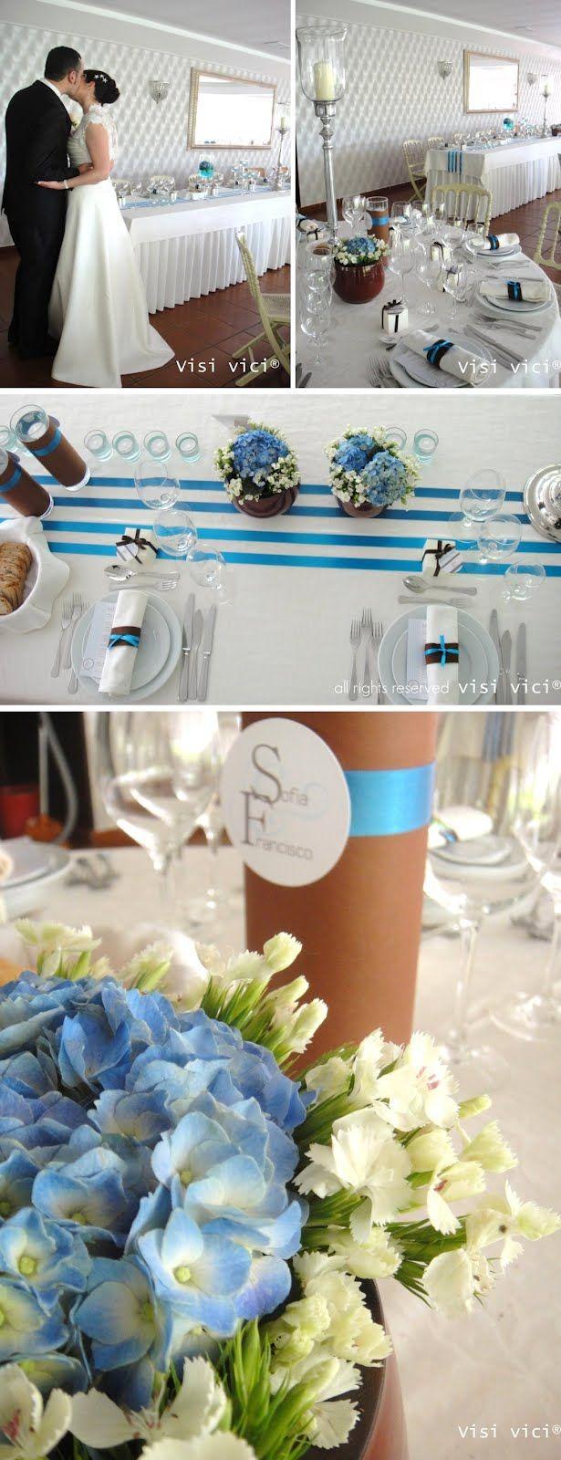 Our Lovely Pink World: PINK & BLUE  Blue Wedding Decoration by VISI VICI  https://www.facebook.com/VISIVICIprodutoresdesonhos