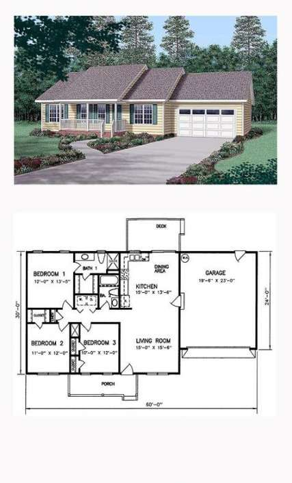 15 New Ideas House Plans 1200 Sq Ft Porches #house in 2019 ...