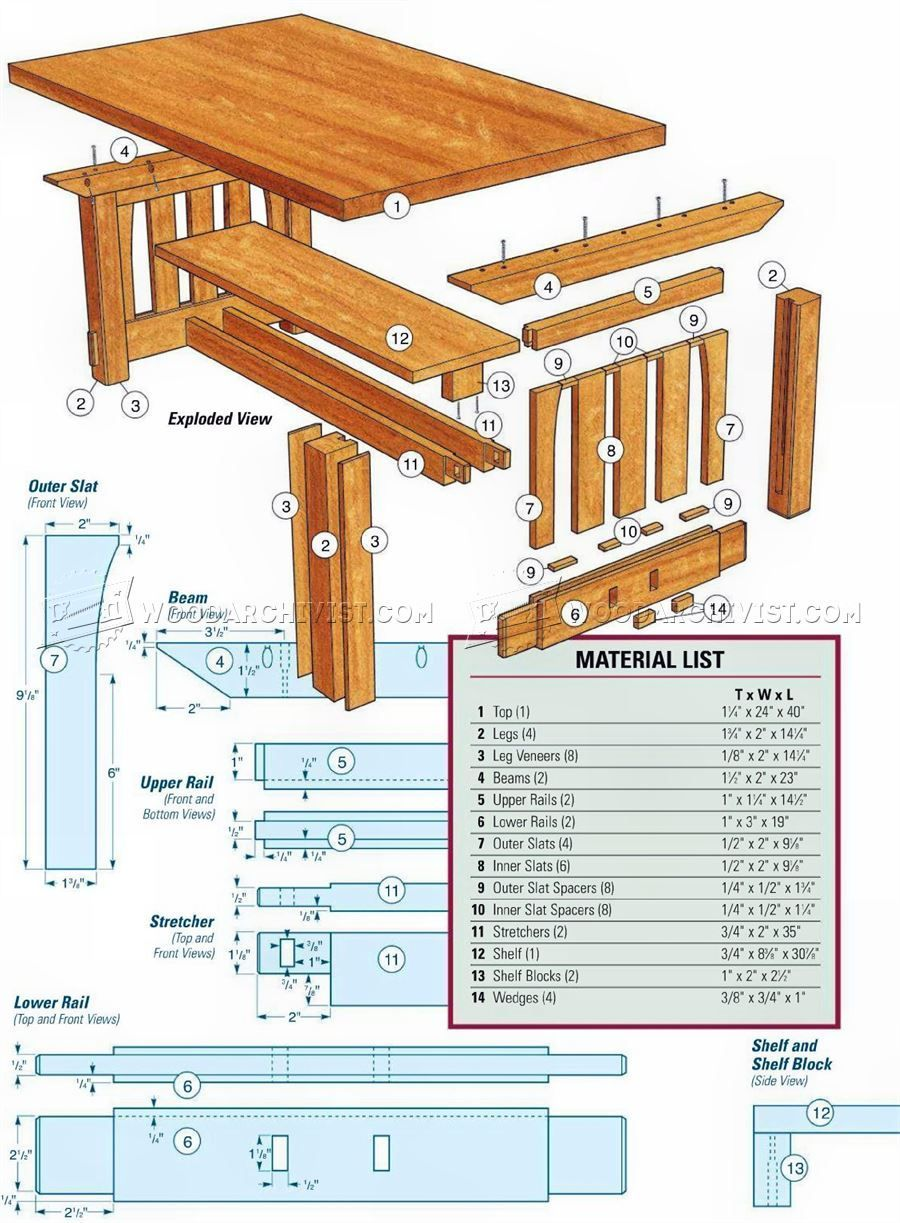 Mission Coffee Table Plans.2022 Mission Coffee Table Plans Furniture Plans Wood Craft Plans