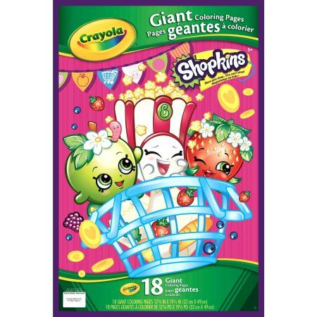 Crayola Shopkins Giant Coloring Pages Gift For Kids 18 Pages Walmart Com Coloring Books Coloring Pages Crayola