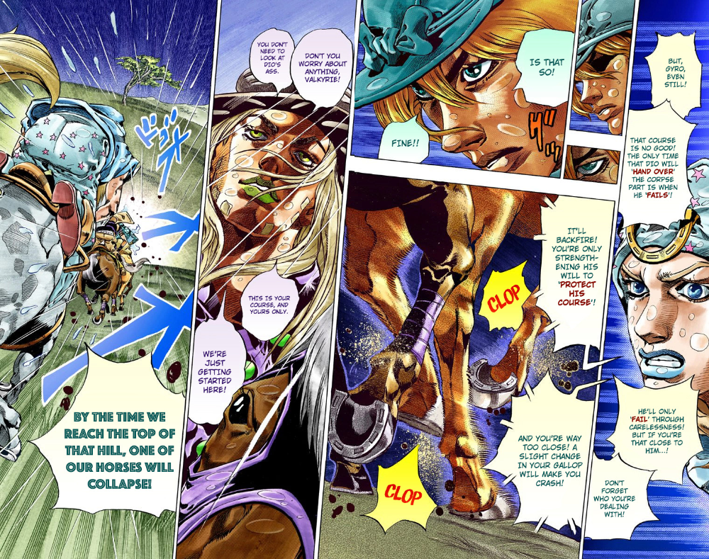 Jojo S Bizarre Adventure Part 7 Steel Ball Run Vol 9 Chapter 38 Catch The Rainbow On That Stormy Night Jojo S Bizarre Adventure Jojo Bizarre Stormy Night