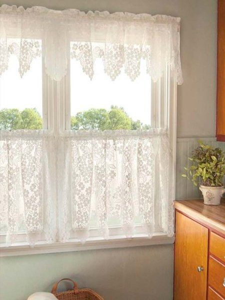 Ideas Deco Que Les Robamos A Las Abuelas Cortinas Pinterest Shabby Kitchen Window Treatments And Kitchens