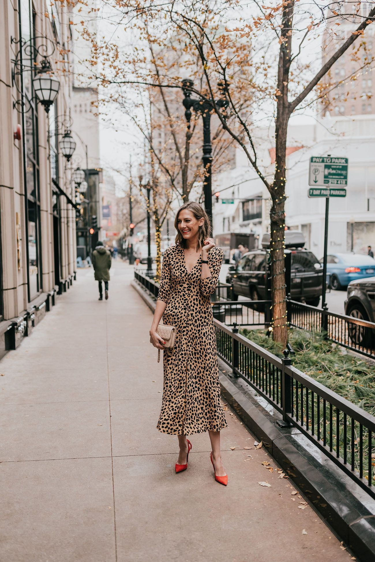Leopard Midi Dress How To Style Andn Wear Three Ways See Anna Jane Midi Dress Dresses Bright Colored Outfits [ 1947 x 1300 Pixel ]