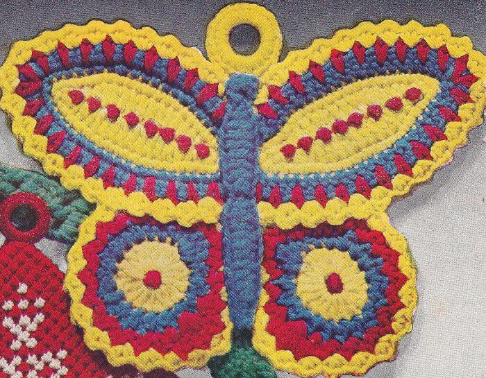Yarn Butterfly Crochet Pattern | Details about Vintage Crochet ...
