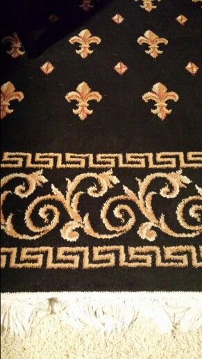 Greek key rug. Deborah K Design. Omaha, Nebraska