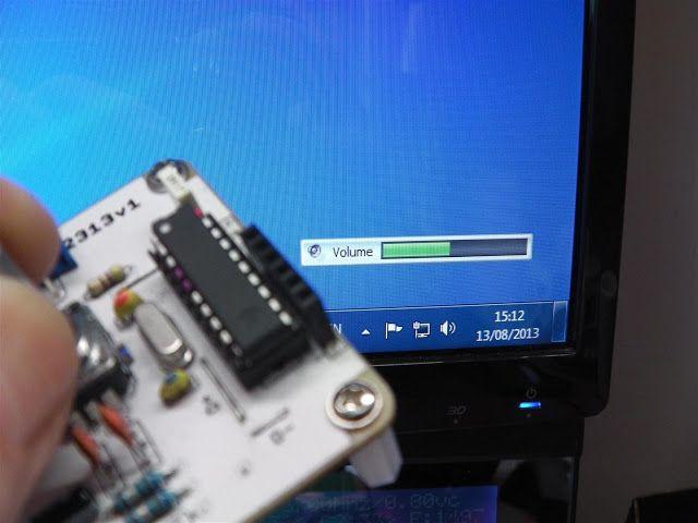 AVR: Attiny 2313 & Attiny84 V-USB Media Volume Control