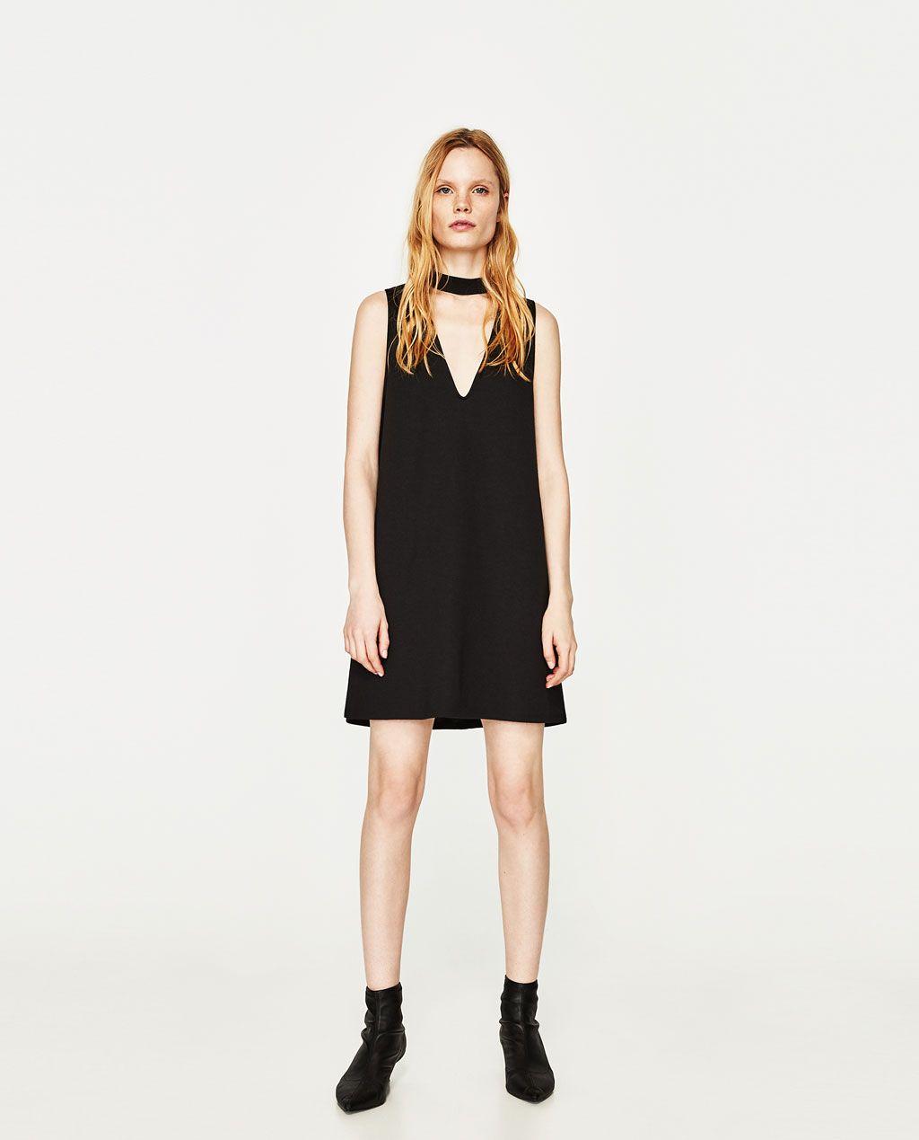 Vestido negro zara trf