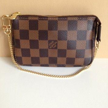 Damier Ebene Canvas Mini Pochette Accessoires Baguette. Louis Vuitton ...
