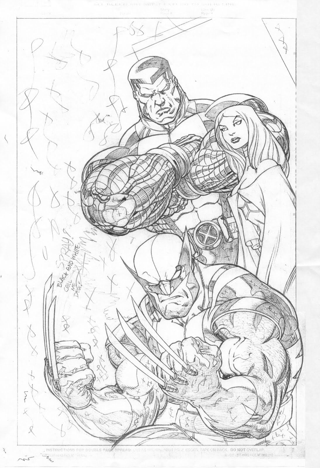 X Men Cover Pencils By Ed Mcguinness
