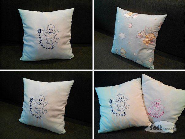 вышитая подушка для девочки