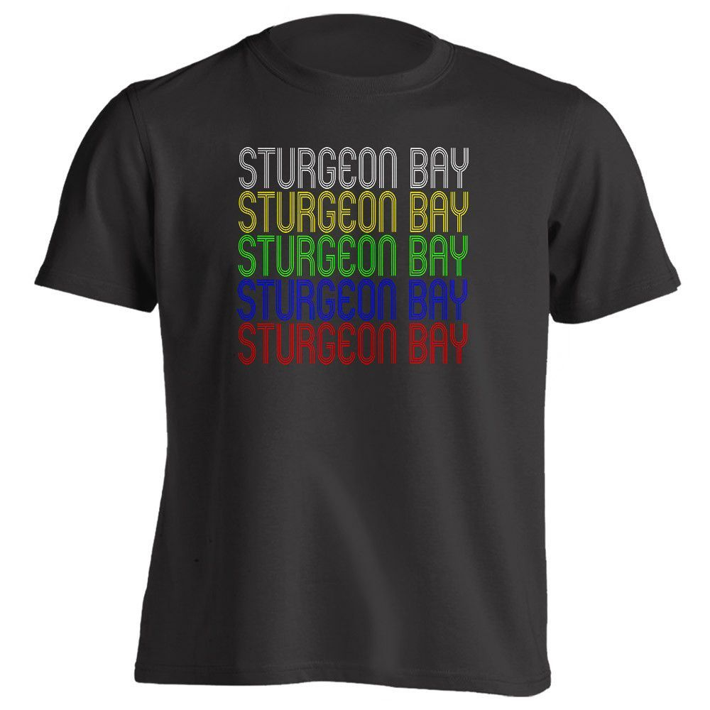 Retro Hometown - Sturgeon-Bay, WI 54235 - Black - Small - Vintage - Unisex - T-Shirt