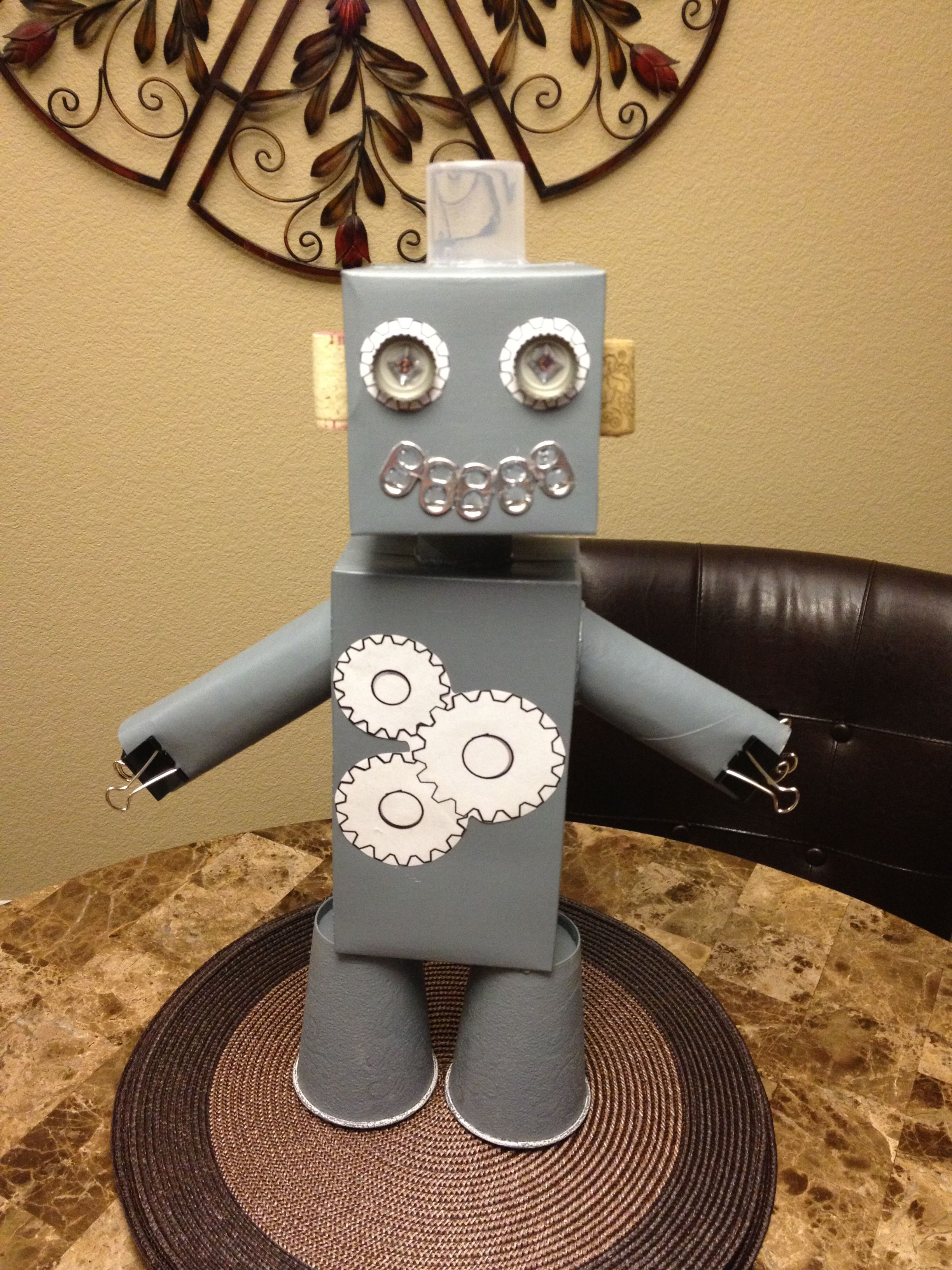 School Project Build A Robot Using Shapes With Images