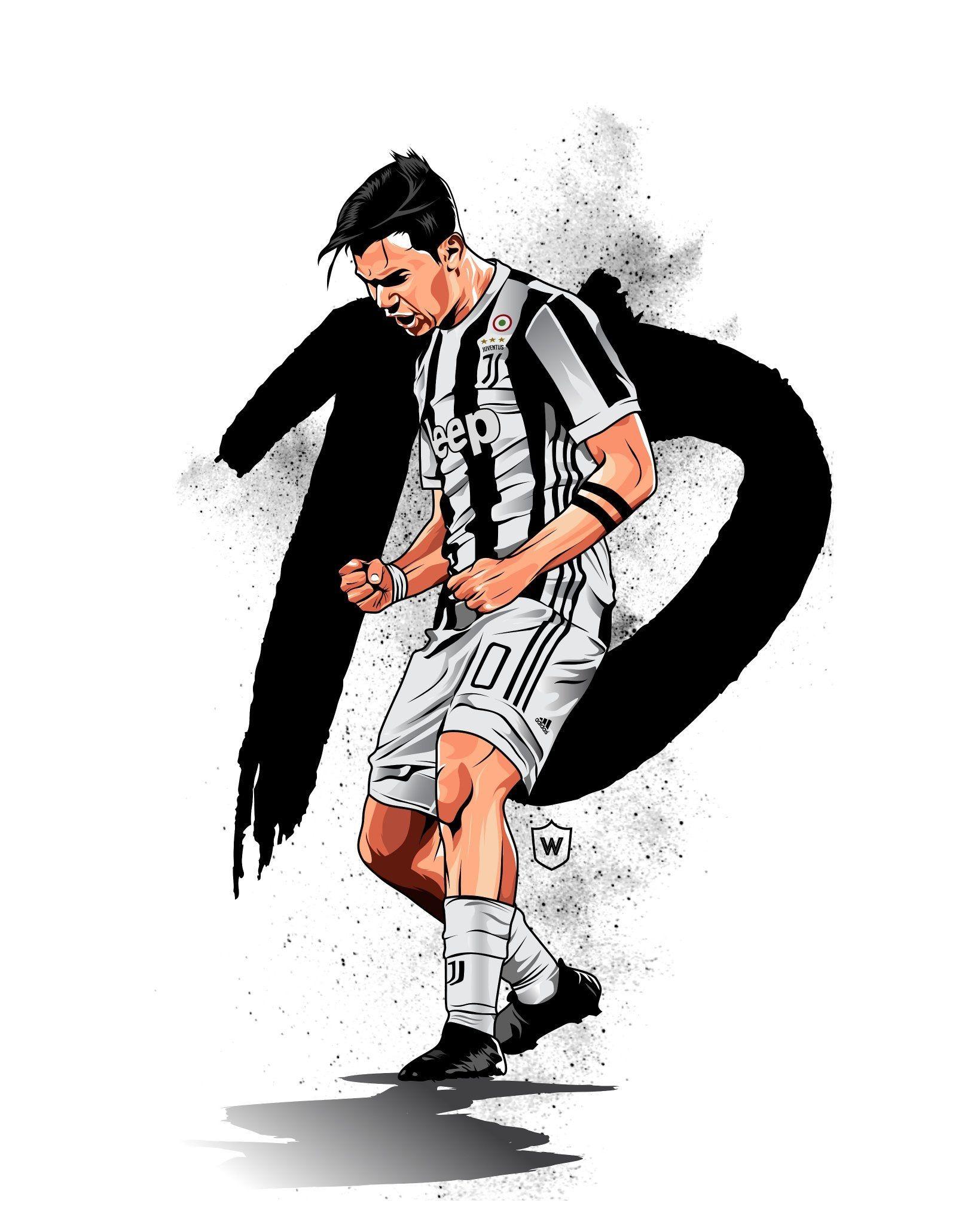 Dybala Football King Football Player Drawing Football E Soccer