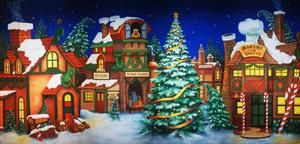theatreworld s santa s village backdrop takes you directly to the