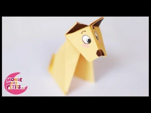 comment faire un chien en origami diy origami pinterest. Black Bedroom Furniture Sets. Home Design Ideas
