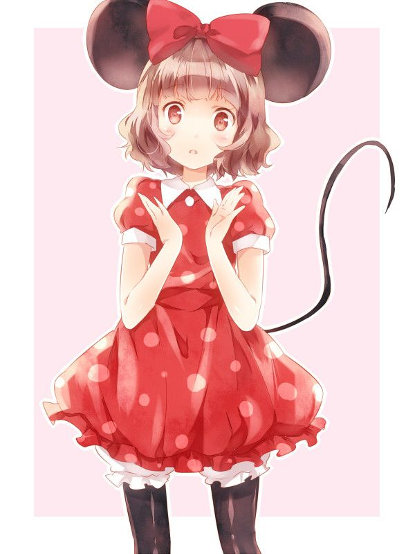 anime girl as minnie mouse
