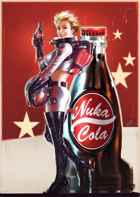 Limited Edition Print Fallout Nuka Cola Pinup