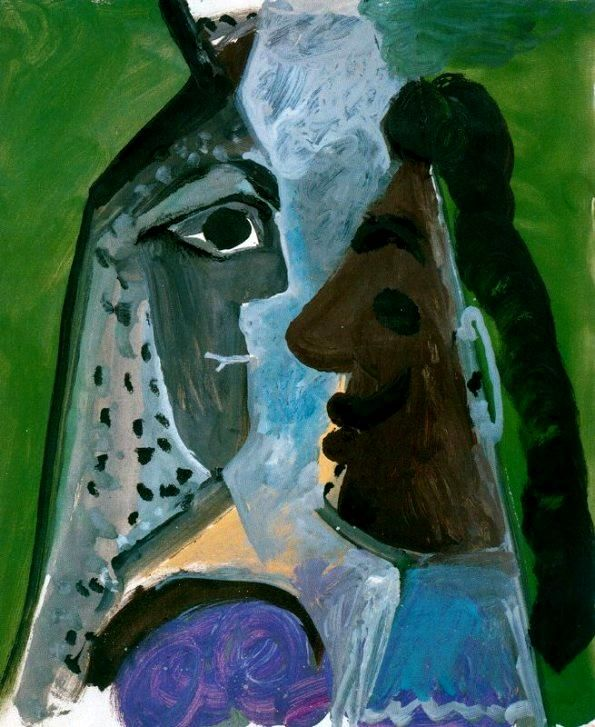 Pablo Picasso Face Of Woman And Man, 1967