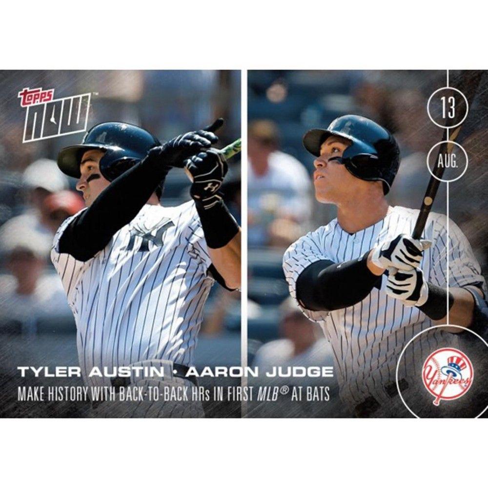 MLB Topps Now Card 351NY Yankees Tyler Austin/Aaron Judge