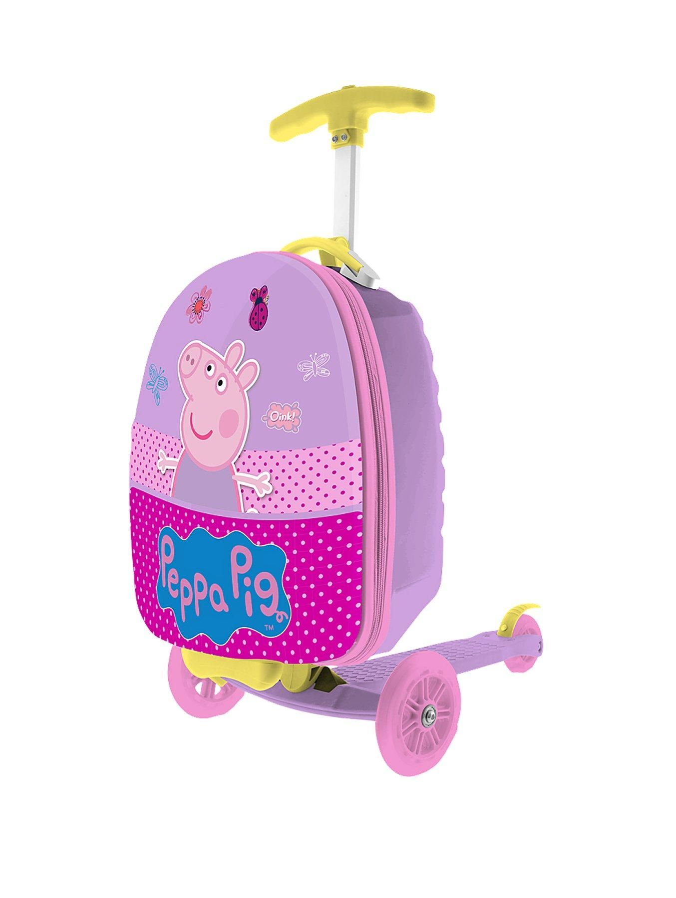 30bd7a3ae73e Peppa Pig Peppa Pig Scootin Suitcase Your little one can travel in style  with this adorable Peppa Pig Scootcase. The perfect 3-in-1 scooter