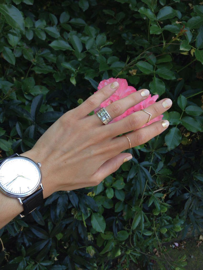 Fresh mani & new rings