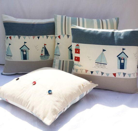 Qualitat Atemberaubende Handmade 14 X 14 Und 16 X 16 Nautische Strand Hutten Meerseite Kissenhullen Nautical Cushions Nautical Pillow Covers Pillows